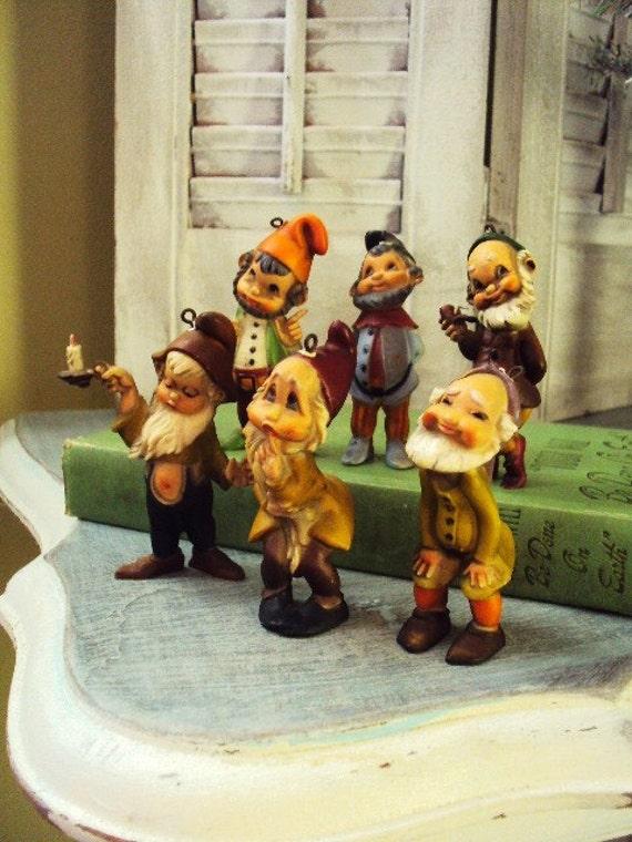 7 dwarfs yard ornaments from the 1960s