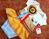 Lucy Lu Short Sleeve Onesie/ Baby Dress - Available in 0-3 months, 3-6 months, 6-9 months, 9-12 months, 18 months and 24 months