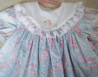 Vintage Clothing Children Little Girl's Easter / Party Dress Size 4 Made in USA