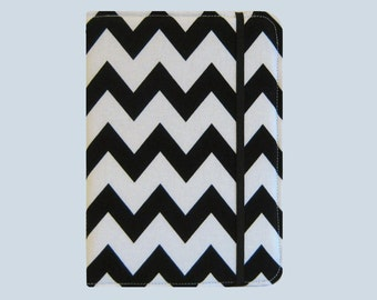 Kindle Cover Hardcover, Kindle Case, eReader, Kobo, Kindle Voyage, Kindle Fire HD 6 7, Kindle Paperwhite, Nook GlowLight Black Chevron