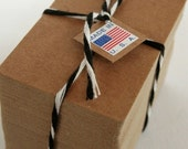 Credit Card Size Heavy Kraft Recycled Chipboard Blanks - set of 50 - Crafting or Letterpress or Stamping