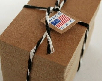 Credit Card Size Heavy Kraft Recycled Chipboard Blanks - set of 100 - Crafting or Letterpress or Stamping