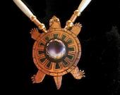 Copper Turtle set  withPurple Quahog Shell - Wampum
