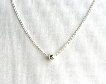 Simple sterling silver Necklace, everyday simple jewelry, minimalist, under 30
