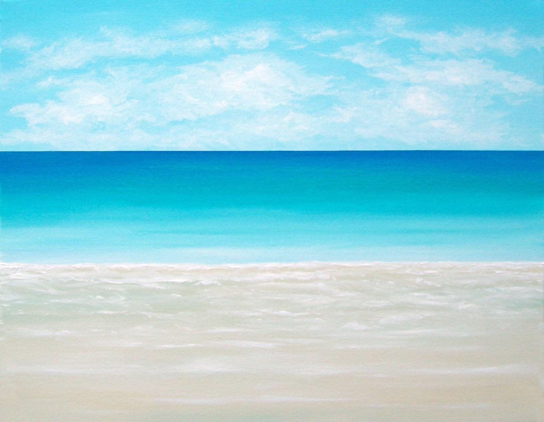Beach painting ocean painting modern beach art contemporary for Coastal contemporary