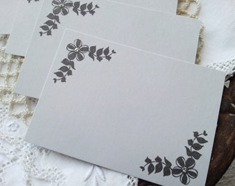 Wedding Event and Party Place Cards Food Buffet Label Tags Gray Silver Glitter Set of 20 LAST SET LEFT