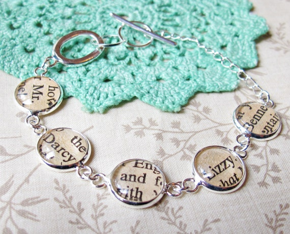 image two cheeky monkeys literature bracelet text typography pride and prejucide jane austen mr darcy elizabeth bennet