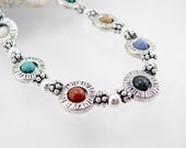Necklace - Turquoise, Onyx, Jasper and Silver