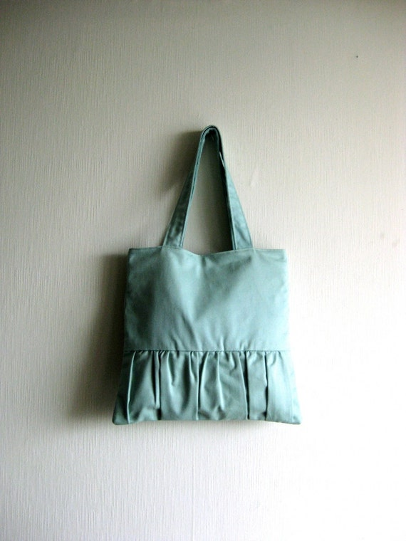 SALE 20% OFF - Prices already reduced -Handbag, tote bag, purse, romantic bag - Delicada Tote Bag in light blue-aqua