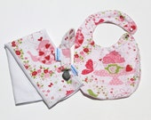Strawberry Tea Party Baby Girly Gift Set