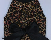 Cheetahlicious With Rhinestones Dog Harness Vest Shirt Size XXXS through Medium by Doogie Couture