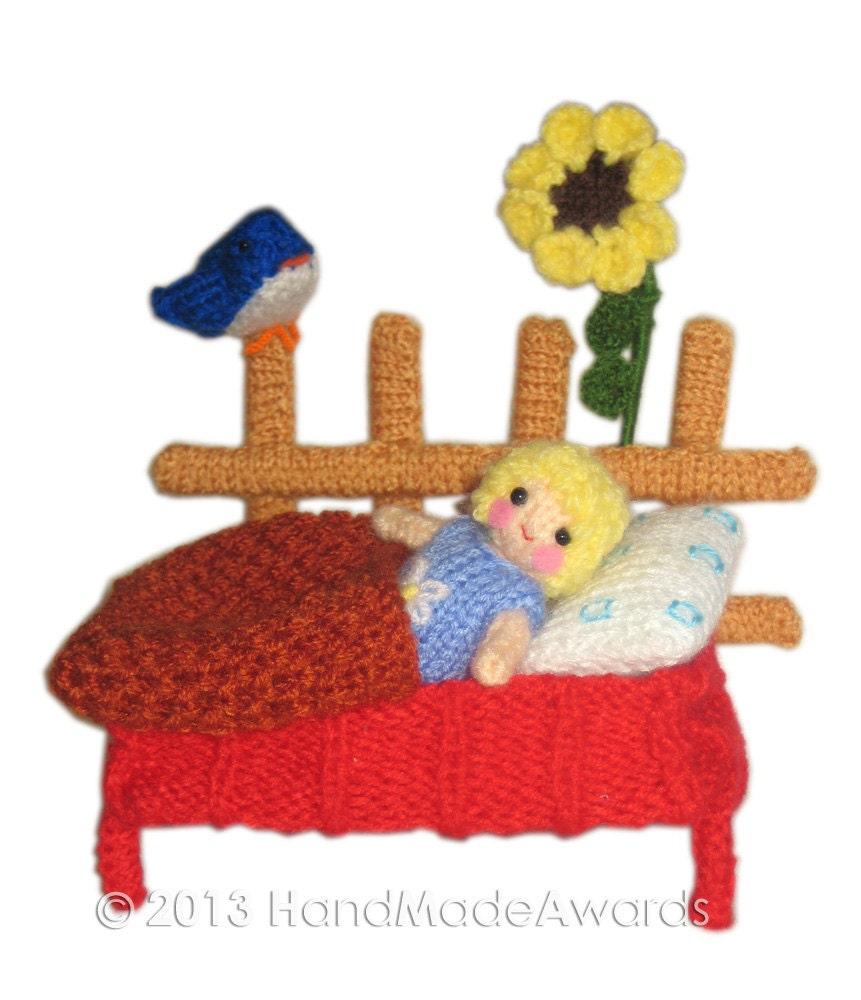 Sunflower Cushion Knitting Pattern : Sunflower PDF Email Knit PATTERN