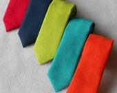 Navy, Red, Teal, Orange, or Lime Green Tie - Skinny or Standard Width - Infant, Toddler, Boy  EASTER is March 27th!!2 weeks before shipping