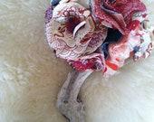 Custom Vintage Kimono Silk Bridal Bouquet