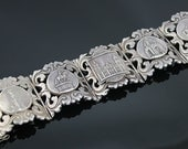 RESERVED for C ------------   Mexico Sterling Bracelet - Bold and Heavy - 1940's - PRICE REDUCTION