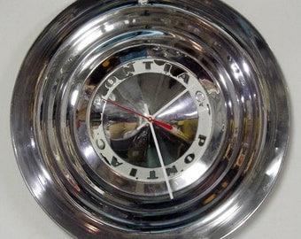 1954 Pontiac Hubcap Clock - Chieftain Star Chief Catalina - Classic Car Wall Clock