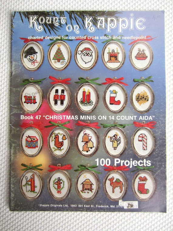 Kount on Kappie Christmas Minis on 14 Count Aida 100 Projects book 47