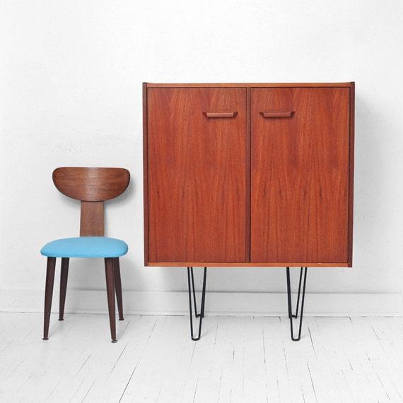 Items similar to Vintage Teak& Hairpin Wall Unit Mid Century, Modern, Sideboard, Retro