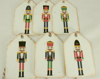 Nutcracker Christmas Tags Journal Tags Gift Tags Pricing Tags - T149
