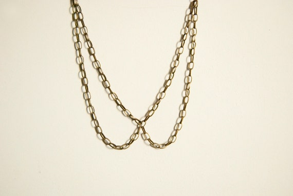 NEW YEAR SALE - Peter pan - chain collar necklace