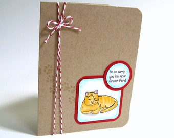 Cat Sympathy Card, Pet Sympathy Card, Cat Lover, Pet, Card, Greeting Card, Cat, Pet Death, Pet Sympathy, Cat Sympathy