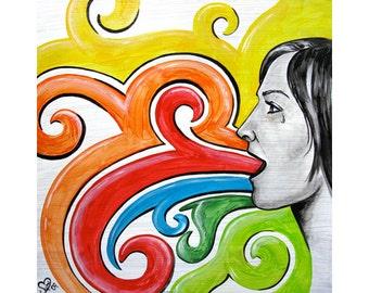 Colorful Words - Fine Art Print