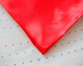 Red Satin Lining Fabric (Fat Quarter - 18 x 30)