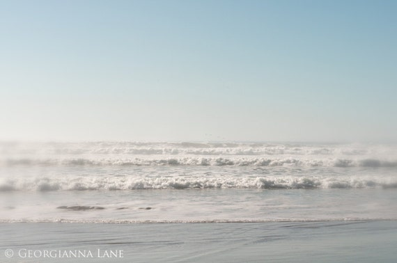 Ocean Photo - Cannon Beach, Oregon, Coastal, Waves, Sand, Summer, Travel Photograph, Home Decor, Wall Art