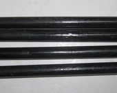 Vintage Bakelite Catalin Round Rods  1/4 inch in a Solid Black