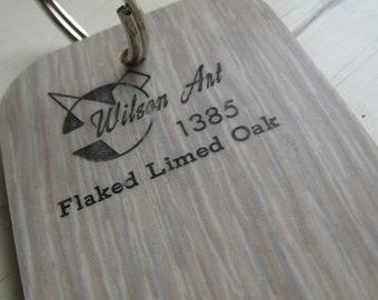Wilson Art Laminate Sample Key Ring Flaked Limed Oak