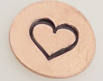 5mm Heart Metal Design Stamp - Metal Jewelry Stamping Tool The Urban Beader