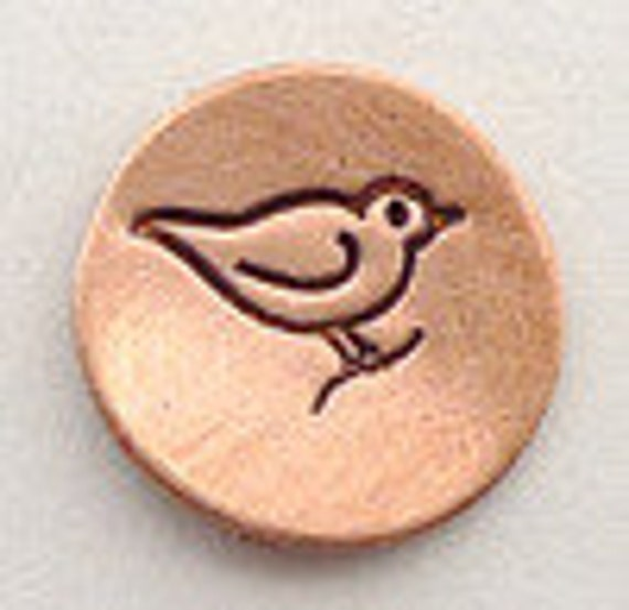 Bird Metal Design Stamp 6mm -  Metal Jewelry Stamping Tool - The Urban Beader