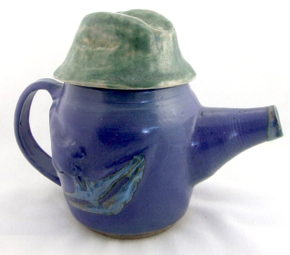 Items Similar To Sale Ceramic Teapot Purple Man Teapot