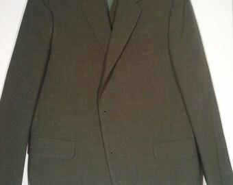 Men's vintage blazer cocktail jacket and vest 42  L  grunge punk suit wool Mad Men 60s playboy