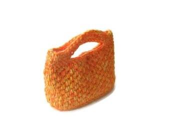 Romantic,  Crochet Bag, Clutch in Orange, Pumpkin, Woman, Handbags,  Clutch, Handbags, Trendy,