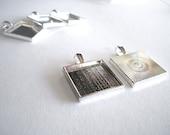 10 - 20mm Silver Tone Blank Bezel Pendant Trays