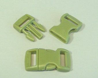 """10pc 3/8"""" Olive Drab Contoured Side Release Buckles For Paracord Bracelets H78-8 (10pc)"""