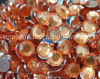 1000 3mm Acrylic Round Crystal Rhinestones Flat Back SS12 Topaz N66-8