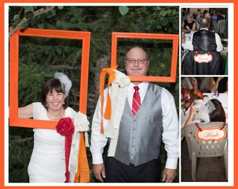 Wedding Chair Signs for Bride/Groom/Mr/Mrs/Your Names - Customized to your event