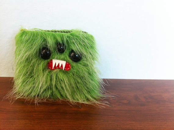 Kiwi Frost Monster Wallet (Reserved for stephanie cornelius)- Three Black Eyes