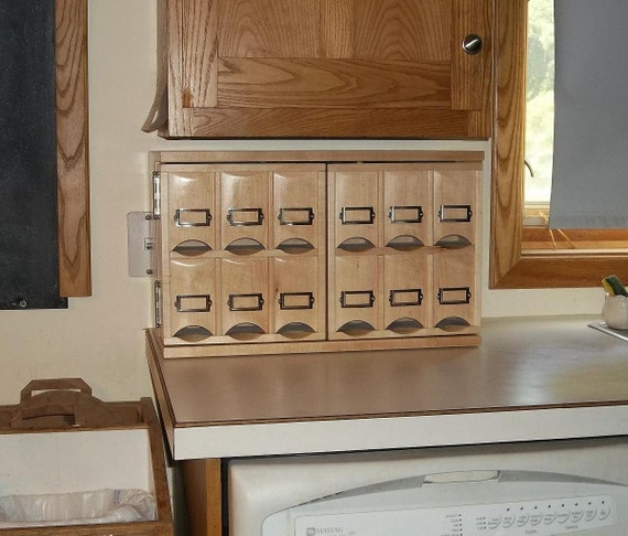 Small Countertop Tea Storage Cabinet (made when ordered)