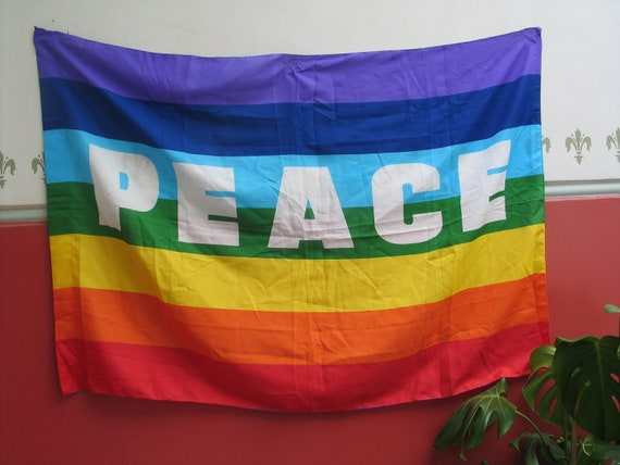 Huge Peace Gay Pride Pacifist Hippie Banner Flag Wall