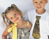 NEW Military Print Pillowcase Dress & Tie Shirt Set Newborn to 10yrs