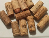 12 wine corks for crafting destash used assorted