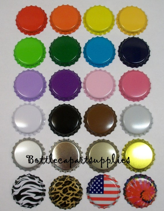 100 Colored Mixed Lot of New  Bottle Caps .  You Choose the Colors . New Crown Caps