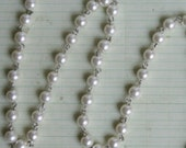 Vintage Style Pearl Chain 8mm 1 yard