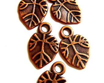 24 leaf charms copper  earring dangles charm bracelet drops jewelry making pendants 18mm 11mm CC2