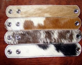 Variety Set of 1 or more Cowhide Cuffs - Cowhide Bracelet / Leather Supply /Cowhide Cuff /Leather Bracelet / Leather Jewelry/Supply