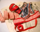 Collection Red Ribbons Strips Plaids Solids
