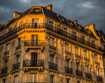 Paris photography  Paris Apartment Photo Building Architecture Bold Colors Burnt Orange Ocher par56